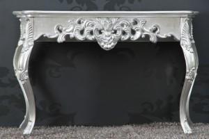 Sideboard im Barockstil, silber, Breite 112 cm
