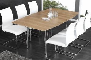 Tisch, Konferenztisch, Esstisch Echtholz Furnier,  Länge 170-270 cm