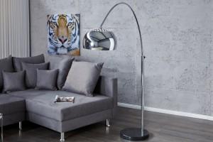 Bogenlampe, Stehleuchte mit einem Lampenschirm aus Metall, Höhe 170-210 cm