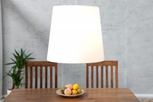 Pendelleuchte Weiß, Lampenschirm Weiß, Ø 45 cm