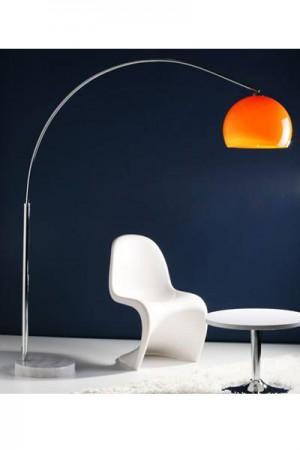Bogen-/ Stehleuchte im modern Stil Schirm orange 170 cm