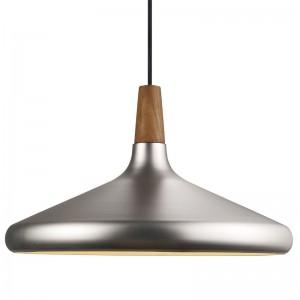 Moderne Pendelleuchte, Hängeleuchte, Farbe Stahl gebürstet, Ø 39 cm
