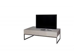 Design TV Schrank  Lowboard grau  mit zwei Türen, Breite 120 cm