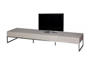 Design TV Schrank / Lowboard grau  mit vier Türen, Breite 224 cm