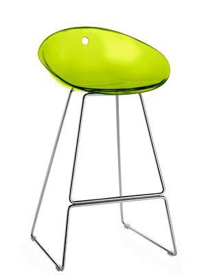 Design Barhocker Farbe grün transparent, 65 cm Sitzhöhe