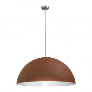 Hängeleuchte Lampenschirm aus Mettal, Farbe rost, Durchmesser 80 cm