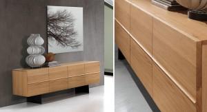 Sideboard / Anrichte aus Echtholz mit vier Türen, Breite 190 cm