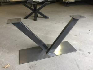 Tischgestell Metall Industriedesign, Tischgestell grau Industrie Metall, Breite 123 cm