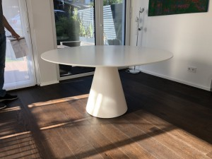 Esstisch rund modern weiß, Tisch rund, Tisch weiß rund, Durchmesser 150 cm