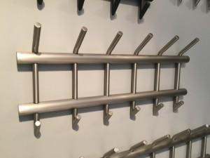 Wandgarderobe Metall, Garderobe Metall 6 Haken, Breite 67 cm