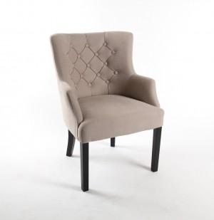 Sessel chesterfield, Gepolsterter Stuhl - Sessel Farbe leinen