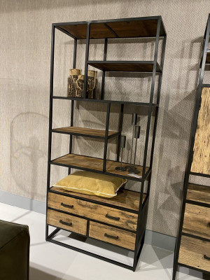 Bücherregal Industriedesign, Regal Metall-Gestell, Regal, Breite 90  cm