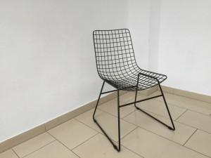 Stuhl Metall schwarz, Esszimmerstuhl, Metall Stuhl schwarz