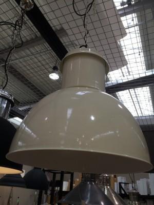 Hängeleuchte Retro, Pendelleuchte Industriedesign, Farbe Weiß-Cream, Ø 50 cm