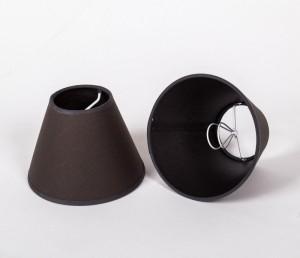 KIemmschirm, Lampenschirm für Kronleuchter, Form rund Ø 16 cm