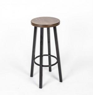 Barhocker mit Metallgestell, Barstuhl,  Sitzhöhe 76,5 cm