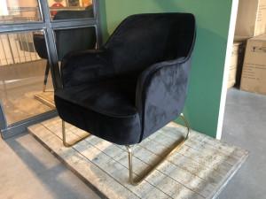 Sessel schwarz, schwarzer Sessel Gold Gestell