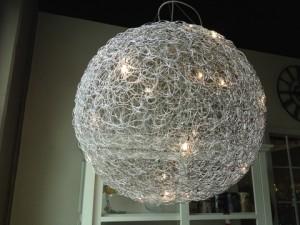 Hängeleuchte aus Aluminium, Durchmesser  100 cm