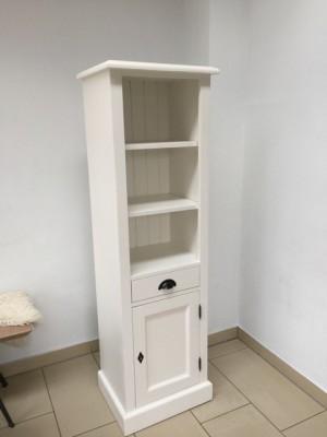 Badezimmerschrank weiß Landhausstil, Regal weiß Landhaus, Schrank weiß, Breite 49 cm