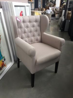 Sessel-Stuhl Farbe leinen, Sessel chesterfield