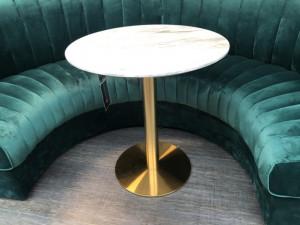Runder Bistrotisch Gold, Bistrotisch rund, Durchmesser 70 cm