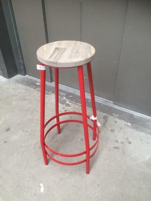 Barhocker Metall-Gestell, Tresenhocker  Farbe rot