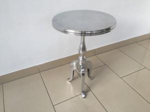 Beistelltisch rund Silber,  Metall Barock Beistelltisch Silber, Ø 35 cm