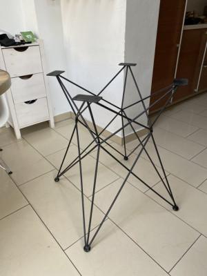 Tischgestell schwarz, Metall Tischgestell
