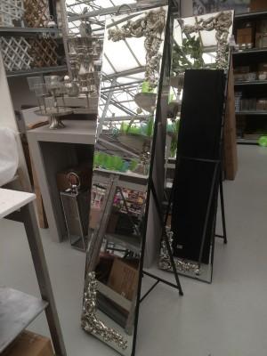 Standspiegel mit Barock-Verzierung, Höhe 180 cm