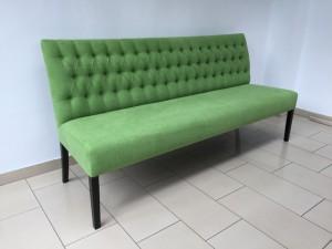 Sitzbank grün im Landhausstil, Bank Länge 200 cm