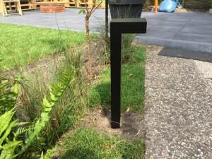 Gartenleuchte schwarz, Außenstandleuchte schwarz, Standleuchte außen schwarz, Höhe 80 cm