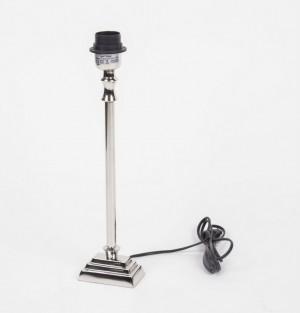 Lampenfuß verchromt für Tischleuchte, Höhe 39 cm