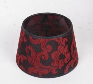 Lampenschirm Farbe Rot-Schwarz, Ø 20 cm