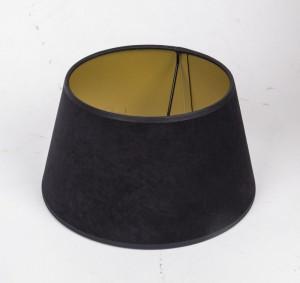 Lampenschirm rund, Farbe Schwarz-Gold, Ø 25 cm