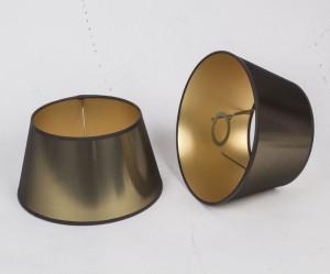 Lampenschirm rund, Farbe Gold, Ø 25 cm
