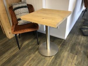 Bistrotisch Eiche, Tisch Eiche Tischplatte Eiche, Maße 50x50 cm
