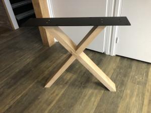 2er Set Tischgestell Holz Eiche, Holzuntergestell für Tische, Breite 78 cm