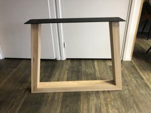 2er Set Tischgestell Holz Eiche, Holzuntergestell für Tische, Breite 94 cm