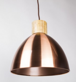 Moderne Pendelleuchte, Hängelampe Farbe Kupfer, Durchmesser 30 cm