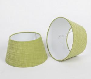 Lampenschirm rund, Farbe Grün, Lampenschirm für eine Tischlampe, Durchmesser 25 cm