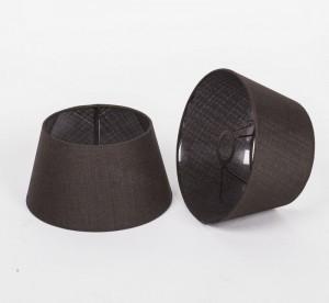 Lampenschirm rund, Farbe Braun, Ø 25 cm