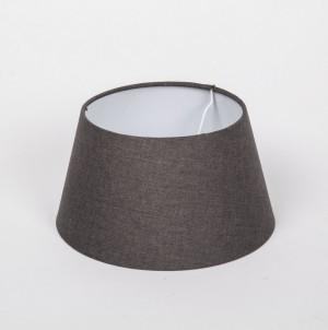 Lampenschirm rund, Farbe Grau, Lampenschirm für eine Tischlampe, Durchmesser 25 cm