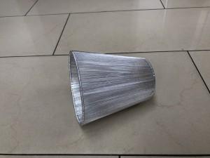 KIemmschirm silber, Steckschirm silber für Kronleuchter, Aufsteckschirm silber, Ø 14 cm
