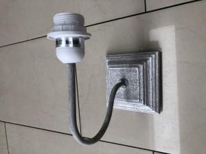 Wandlampe grau Landhaus, Wandleuchte grau Landhausstil