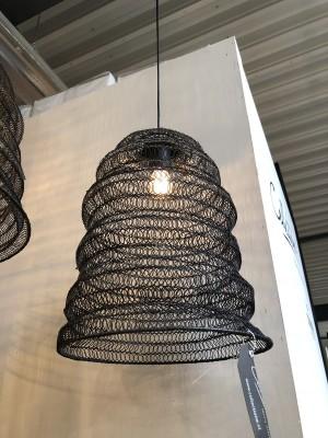 Pendelleuchte schwarz, Hängeleuchte schwarz, Durchmesser 30 cm