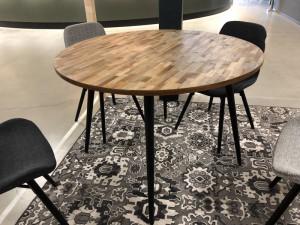 Tisch rund braun-schwarz, Esstisch rund, runder Tisch, Durchmesser 110 cm