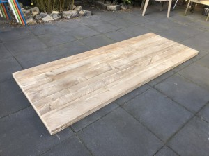Tischplatte Holz massiv, massive Holztischplatte, Maße 220x90 cm