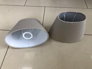 Lampenschirm oval Farbe Sand, Lampenschirm für Tischleuchte, Ø 25 cm