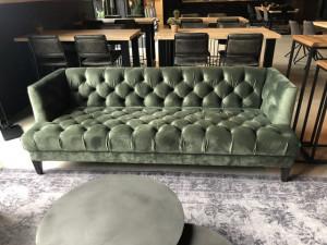 Chesterfield Sofa grün, Sofa grün Chesterfield, Breite 214 cm