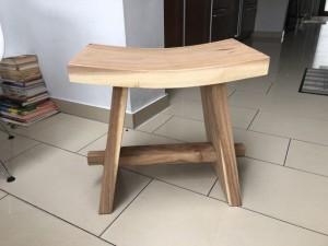 Hocker Holz braun, Holz Hocker vintage